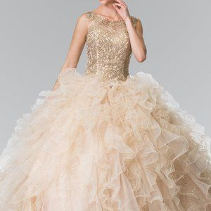 Illusion Sweetheart Neck Lace Prom Dress GSGL2208
